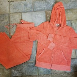 Peach 2p Juicy Couture Tracksuit